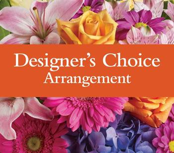 Designers Arrangement. Description: Available in pastel, bright, seasonal or a single colour theme.