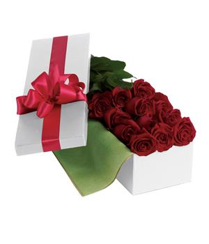 Roses For You. Description: Nothing says romance like one dozen long-stemmed red roses hand-delivered in an elegant gift box.