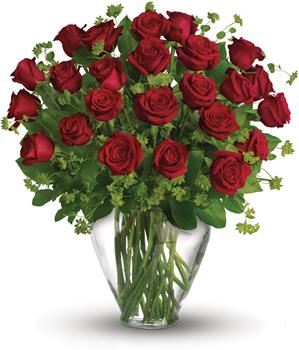 My Perfect Love. Description: When it comes to delivering romance in a big way, two dozen gorgeous red roses hand arranged in a glass vase,are a brilliant choice.