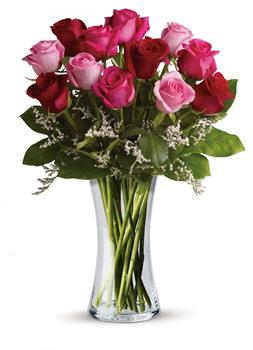 I Love You. Description: Show them how you really feel with this impressive arrangement of red and pink roses! It is a grand gesture guaranteed to make them smile.