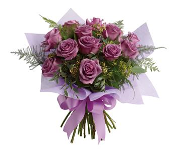 Lavender Wishes. Description: The luxurious choice for the lavender lover in your life, this dazzling dozen will win their heart with its delicate greens and sweet scent.