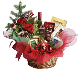 Christmas Spirit. Description: Even if your list seems like it is endless this year, sending a Christmas gift has never been so easy. This basket is fresh, festive and fabulous. Oh, and did we mention is delicious?