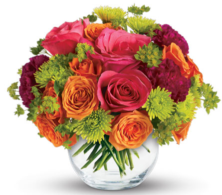 Smile Bright. Description: Brighten Someone's Day with this charming arrangement. They'll love the gift, and you for having such amazingly good taste.