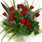 Red, coloured, and a Single rose and dozen bunches