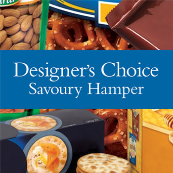 Code: D24. Name: Spotswood Store Savoury Hamper. Description: Let our designer make up a savoury hamper using locally sourced savoury goodies. Price: NZD $106.95 - Category: Shop Choice