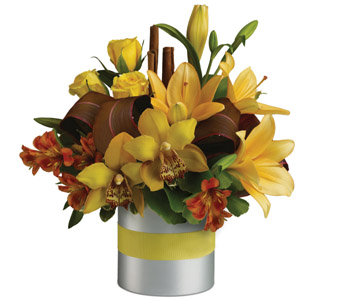 Made up of imported tropical flowers and locally Hastings Hawkes Bay grown tropical style flora